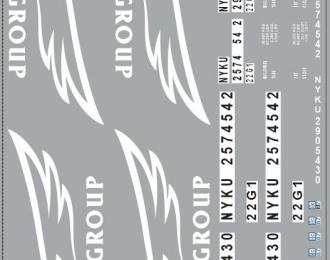 Набор декалей 0094 Контейнеры Nyk Group (100х140)