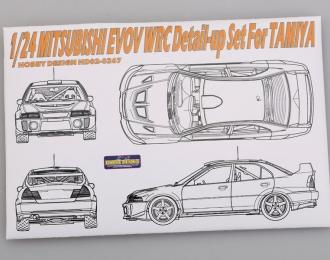 Набор для доработки Mitsubishi EVOV WRC Detail-up Set для моделей T (PE+Resin)