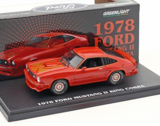 FORD Mustang II King Cobra 1978 Red & Black