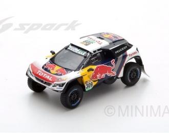 PEUGEOT 3008 DKR #309 2nd Dakar S. Loeb - D. Elena (2017), white