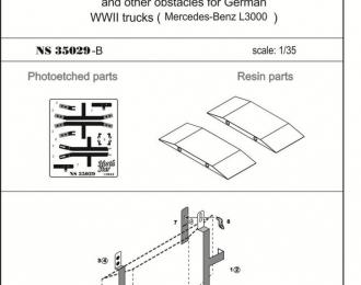 Набор для доработки Деревянные доски для самовытаскивания немецких грузовых автомобилей (Mercedes-Benz L3000)
