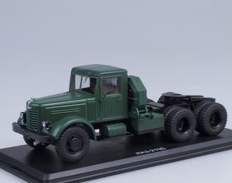 ЯАЗ 210Д седельный тягач, зеленый