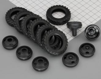 Резина, диски для Горький 53 (К-55А), компл. из 7 колес