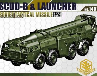 """Сборная модель Ракетный комплекс 9К72 """"Эльбрус"""" (SS-1c """"Scud B"""") на базе МАЗ-543"""