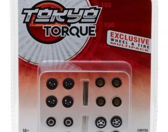 """Набор колес для японских спорткаров """"Tokyo Torque Wheel & Tire Pack"""" 4 комплекта"""
