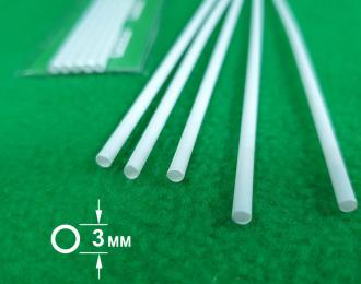 5303 ABS пластик труба диаметр 3 мм  - длина 250 мм - 5 шт