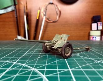 М-42 (45-мм противотанковая пушка образца 1942 года) запыленная