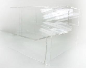 """Подставка под модели """"Лесенка"""", прозрачная с балконом 27см"""