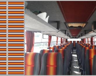 Набор декалей 0210 Декор для сидений Икарус (красный), 100х140