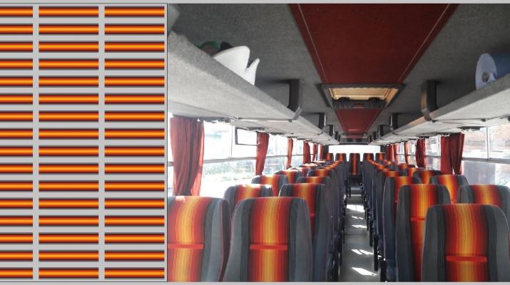 Набор декалей Декор для сидений Икарус (красный), 100х140