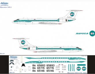 Декаль на самолет Туполев-134Б-3 (Ароса)