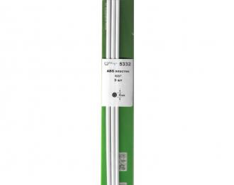 ABS пластик круг 4 мм - длина 250 мм - 3 шт
