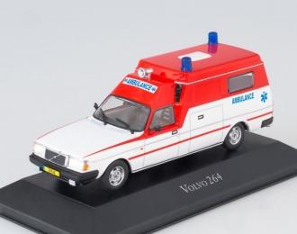 "(Уценка!) VOLVO 264GL ""Dutch Ambulance"" (1974), white / red"