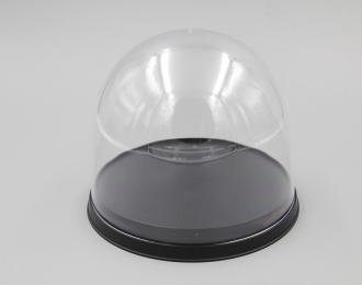 Прозрачный бокс (Display case J) круглый с черной подставкой (диам.125 мм высота 95 мм)
