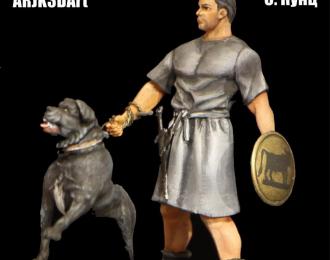 Киликийский легкий пехотинец с боевым псом, 54 мм