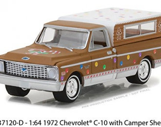 CHEVROLET C10 with Camper Shell 1972 Brown / White