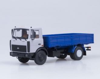 МАЗ 5337 бортовой поздняя кабина (1987), серый / синий