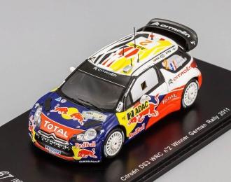 CITROEN DS3 WRC №2 Winner German Rally (Sebastien Ogier - Julie Ingrassia) 2011, red