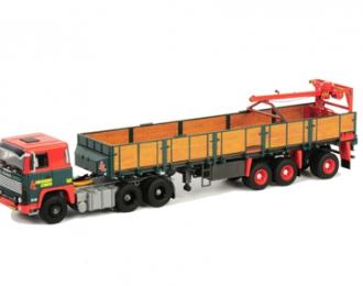 SCANIA 111/141 Brick Trailer (3 axle) Hendriks Lobith, Premium Line 1:50, красный