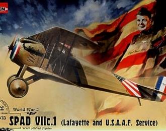 Сборная модель Французский истребитель Spad VII c.1 (Lafayette and U.S.A.A.F. Service)