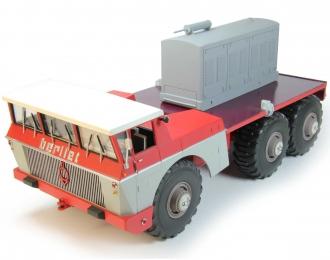 BERLIET T100 N°4 Rouge Et Gris (1959), white / red