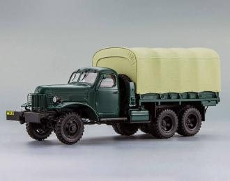 (Уценка!) ЗИС 151 бортовой с тентом (1951), грязно-зеленый