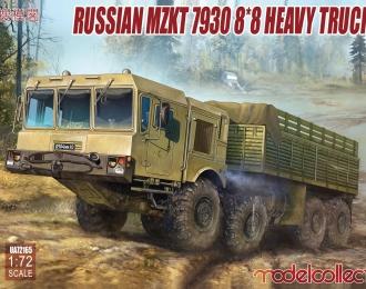 Сборная модель Российский грузовой автомобиль МЗКТ 7930 8х8