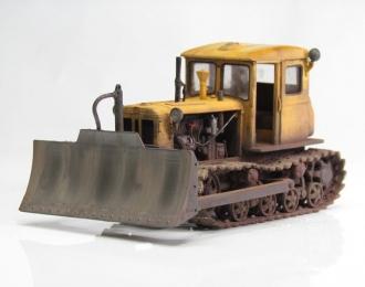 Т-74 бульдозер желтый ранний (загрязненная версия)