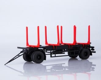Прицеп МАЗ-83781 сортиментовоз, черный / красный
