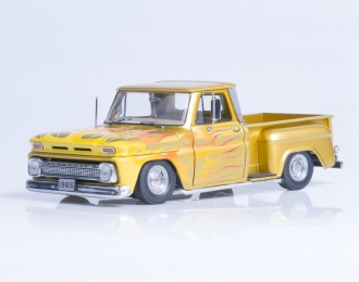 CHEVROLET C-10 Stepside Pickup Lowrider (1965), metallic gold