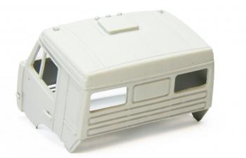 Спальная кабина для КАМАЗ (Евро-2, пластиковый бампер), грунт