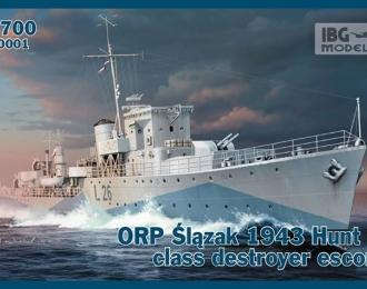 Сборная модель Польский эсминец ORP ŚLĄZAK 1943г.