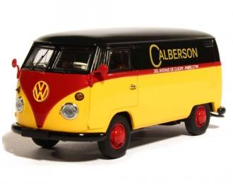 VOLKSWAGEN T1 Calberson Box Wagon, yellow / black / red