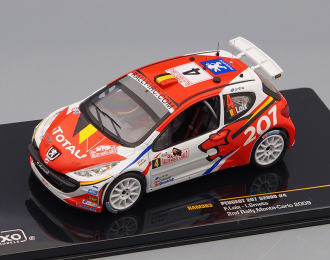 PEUGEOT 207 S2000 4 2nd Rally Monte Carlo (F.Loix - I.Smets) 2009, red
