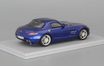 MERCEDES-BENZ SLS AMG 2009, blue