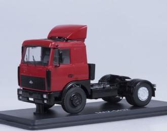 МАЗ 5432 седельный тягач со спойлером поздний, красный
