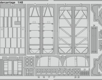 Фототравление для модели He 111H-3 undercarriage