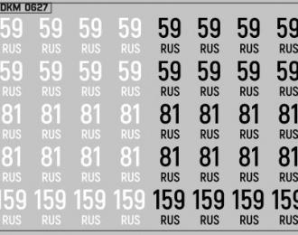 Набор декалей Дублирующие знаки России Пермский край (100х70)