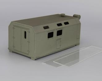 Надстройка Передвижная автомобильная кухня ПАК-200 на базе ЗиЛ-131, хаки