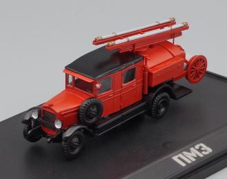 Пожарный автомобиль ПМЗ на базе ЗИS-5, красный