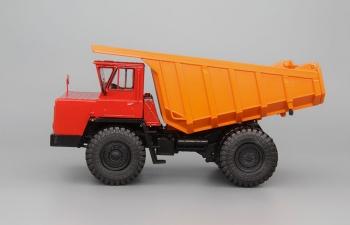 БелАЗ-7510 самосвал-углевоз, красный / оранжевый