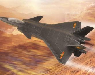 Сборная модель Китайский истребитель J-20 Mighty Dragon ,( 20см, Hobby Boss )