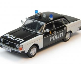 VOLVO 244 Полиция Норвегии, Полицейские Машины Мира 73, черно-белый