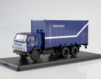 КАМАЗ-53212 с 20-футовым контейнером Почта России, синий