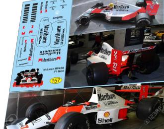 Набор декалей Formula 1 №30 McLaren MP4/5B