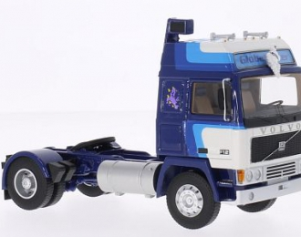 """VOLVO F12 Globetrotter """"Michelin"""" (1980), blue / white"""