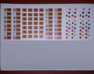 (Уценка!) Набор наклеек Маркировки опасных грузов (вариант 2)