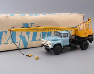АК-75В автокран (на шасси ЗИL-130), голубой / желтый