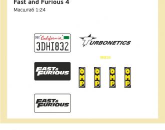 Набор декалей Nissan GTR R34 из к/ф Форсаж 4 (Fast and Furious)