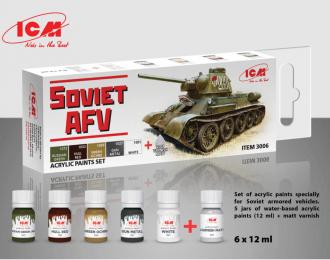 Набор акриловых красок для Советской бронетехники 2МВ